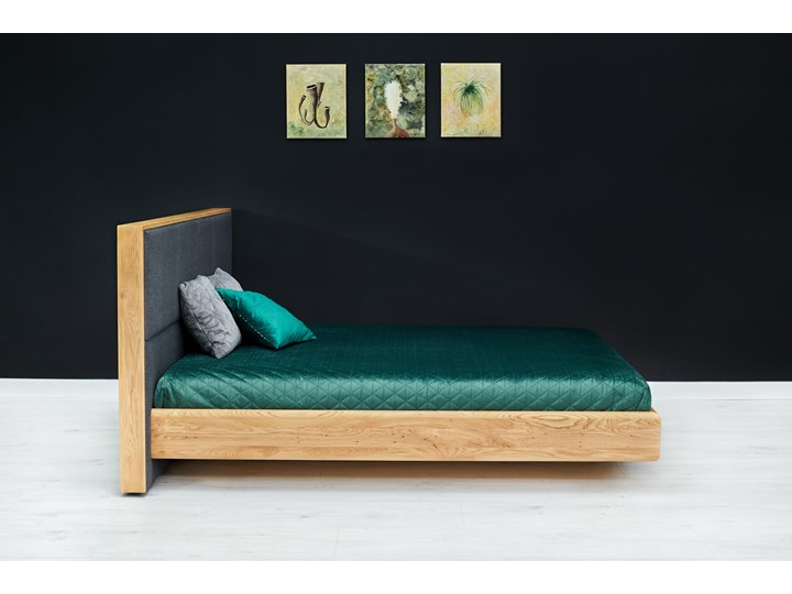 Łóżko lewitujące Dome Dąb 180x220 cm Long Łóżko tapicerowane Drewno Kolor Beżowy