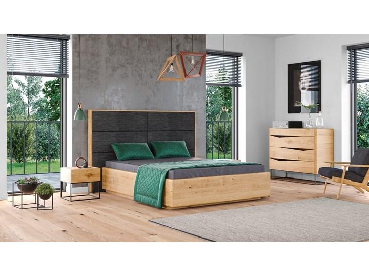 Łóżko Dome z pojemnikiem Dąb 160x200 cm Lakier matowy INARI 94 Styl Minimalistyczny Łóżko drewniane Drewno Kolor Beżowy