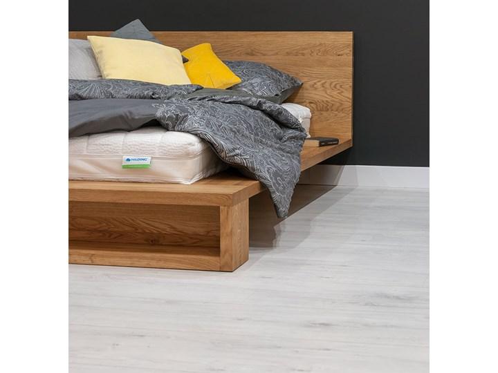 Łóżko Command z litego drewna Dąb 140x200 cm Drewno Styl Vintage Łóżko drewniane Styl Nowoczesny