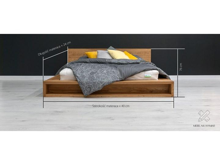 Łóżko Command z litego drewna Dąb 140x200 cm Łóżko drewniane Drewno Styl Nowoczesny