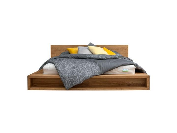 Łóżko Command z litego drewna Dąb 140x200 cm Łóżko drewniane Drewno Styl Minimalistyczny