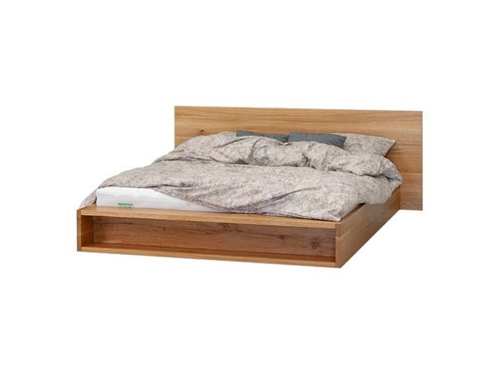 Łóżko Metro z pojemnikiem Dąb 160x220 cm Long Drewno Łóżko drewniane Kategoria Łóżka do sypialni Styl Minimalistyczny