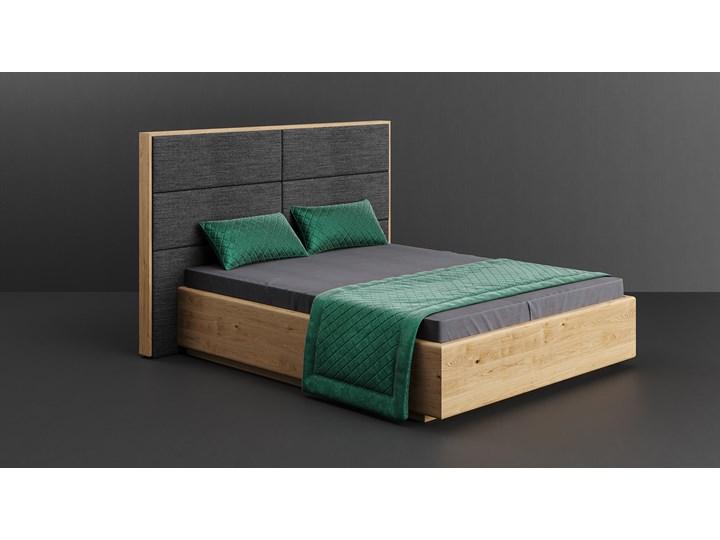 Łóżko drewniane Dome z pojemnikiem Dąb 180x220 cm Long Drewno Kolor Szary Styl Nowoczesny
