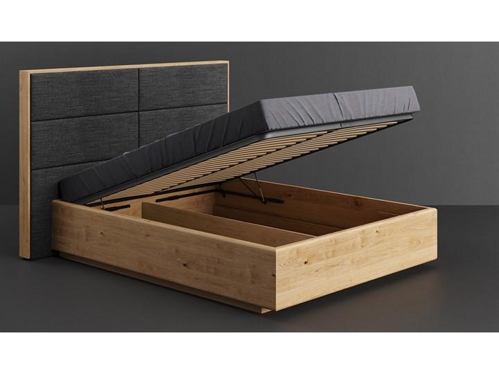 Łóżko Dome z pojemnikiem Dąb 160x200 cm Lakier matowy INARI 94 Drewno Łóżko drewniane Kategoria Łóżka do sypialni Kolor Beżowy