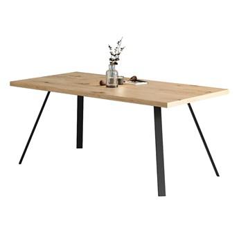 Rozkładany stół Lige z naturalnego drewna Dąb 140x80 cm Dwie dostawki 50 cm