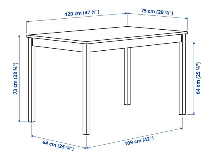 IKEA INGO / IVAR Stół i 4 krzesła, sosna, 120 cm Kolor Beżowy Kategoria Stoły z krzesłami