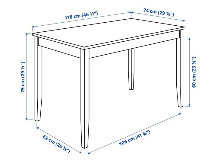 IKEA LERHAMN / BERGMUND Stół i 4 krzesła, czarnybrąz/Orrsta jasnoszary/czarny, 118x74 cm Kategoria Stoły z krzesłami
