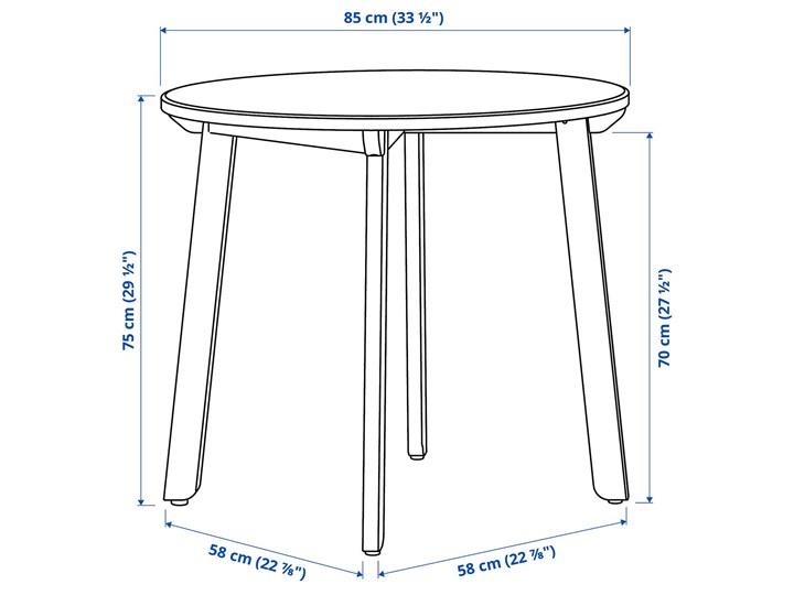 IKEA GAMLARED / STEFAN Stół i 2 krzesła, bejca jasna patyna/brązowoczarny, 85 cm Kolor Brązowy