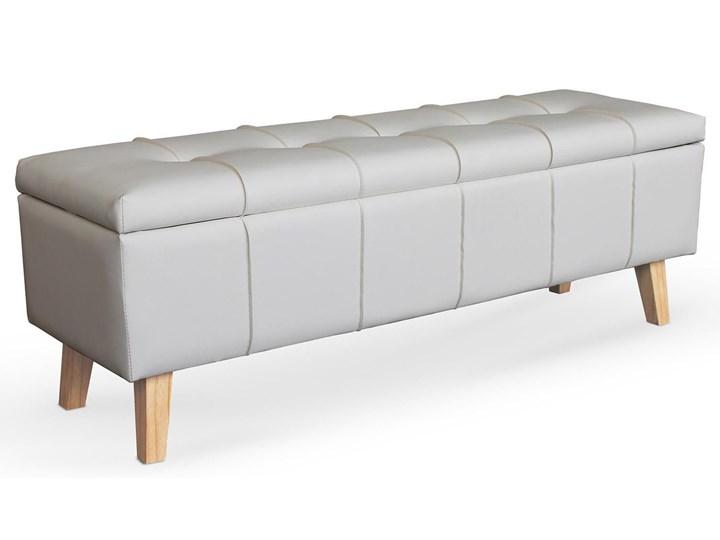 Ławka z pojemnikiem Adras - biała Tradycyjna Pikowana Kategoria Ławki do salonu