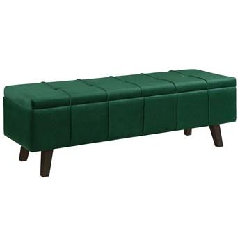 Pikowana ławka z pojemnikiem Adras - zielona