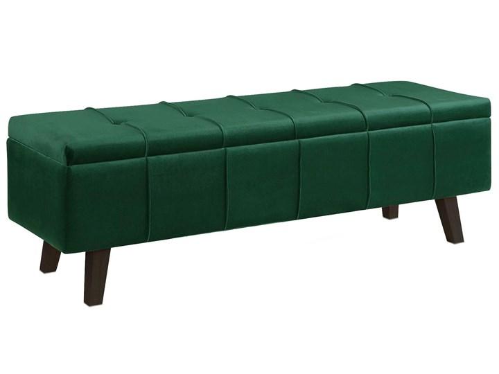 Pikowana ławka z pojemnikiem Adras - zielona Kategoria Ławki do salonu