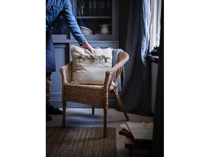 IKEA AGEN Krzesło, rattan/bambus, Szerokość: 58 cm Metal Drewno Tworzywo sztuczne Styl Nowoczesny