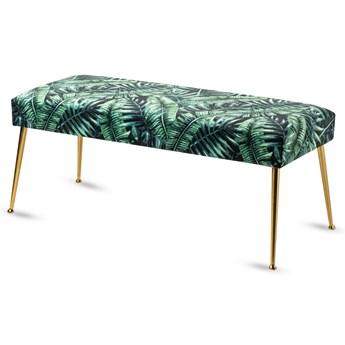 Ławeczka tapicerowana industrialna Metal Palm
