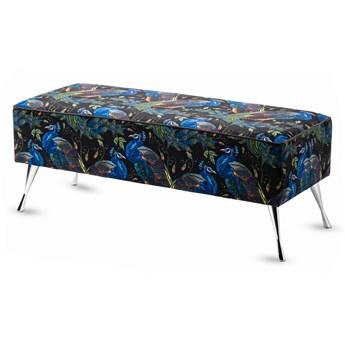 Ławka tapicerowana do przedpokoju Retro Peacok