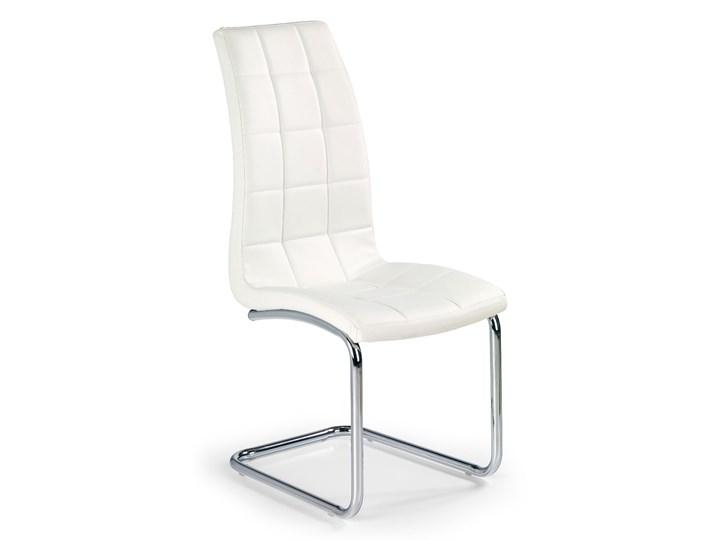 Krzesło K147 białe HALMAR Metal Tworzywo sztuczne Kolor Biały Tkanina Tapicerowane Stal Styl Nowoczesny