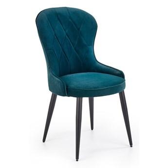 Krzesło K366 VELVET ciemno zielone HALMAR