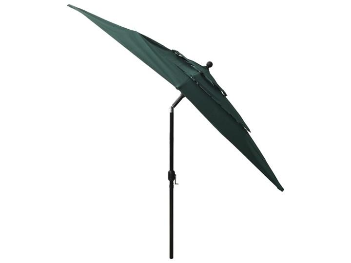 vidaXL 3-poziomowy parasol na aluminiowym słupku, zielony, 2,5x2,5 m Parasole Kategoria Parasole ogrodowe