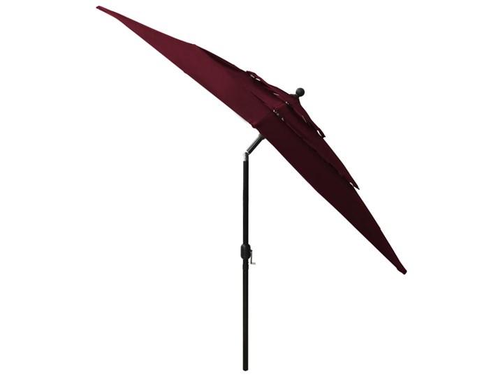 vidaXL 3-poziomowy parasol na aluminiowym słupku, bordowy, 2,5x2,5 m Parasole Kategoria Parasole ogrodowe