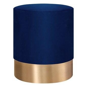 FICA Puf granatowo-złoty 35x42 cm