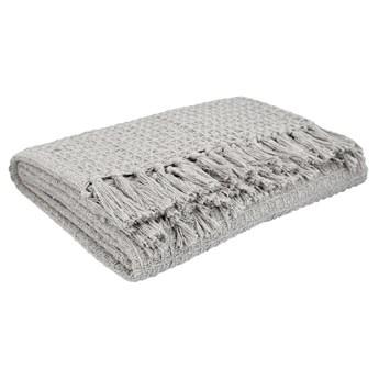 VAFFEL Pled bawełniany jasnoszary 130x170 cm