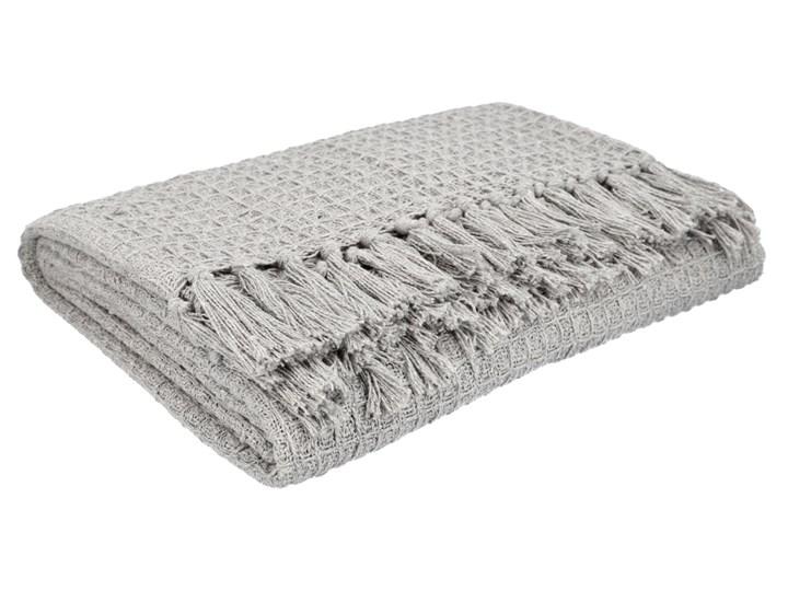 VAFFEL Pled bawełniany jasnoszary 130x170 cm Bawełna Pomieszczenie Salon Koc Kategoria Koce i pledy