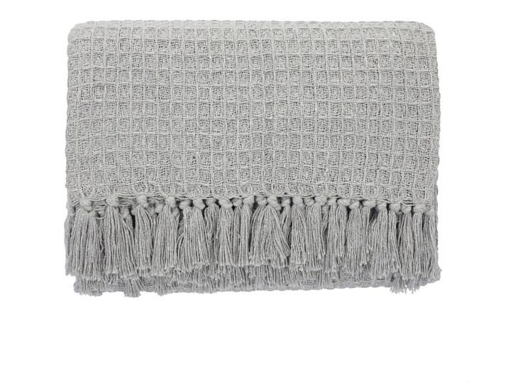 VAFFEL Pled bawełniany jasnoszary 130x170 cm Pomieszczenie Salon Koc Bawełna Kategoria Koce i pledy