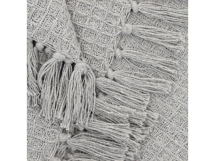 VAFFEL Pled bawełniany jasnoszary 130x170 cm Koc Bawełna Pomieszczenie Salon Kategoria Koce i pledy