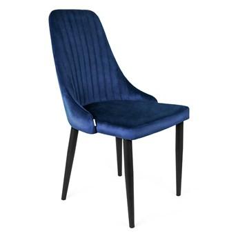 LOUIS Krzesło granatowe 44x59x88 cm