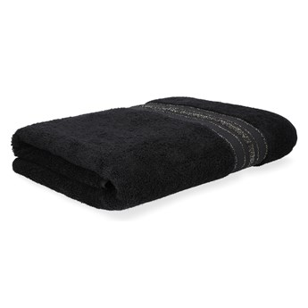 DUKE Ręcznik z delikatnym lureksem czarny 70x130 cm