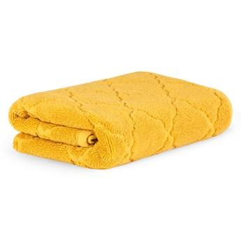 SAMINE Ręcznik z marokańską koniczyną musztardowy 70x130 cm