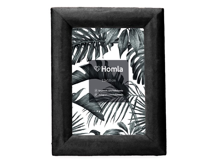 LOVA Ramka welurowa czarna 13x18 cm Kolor Czarny Drewno Kategoria Ramy i ramki na zdjęcia