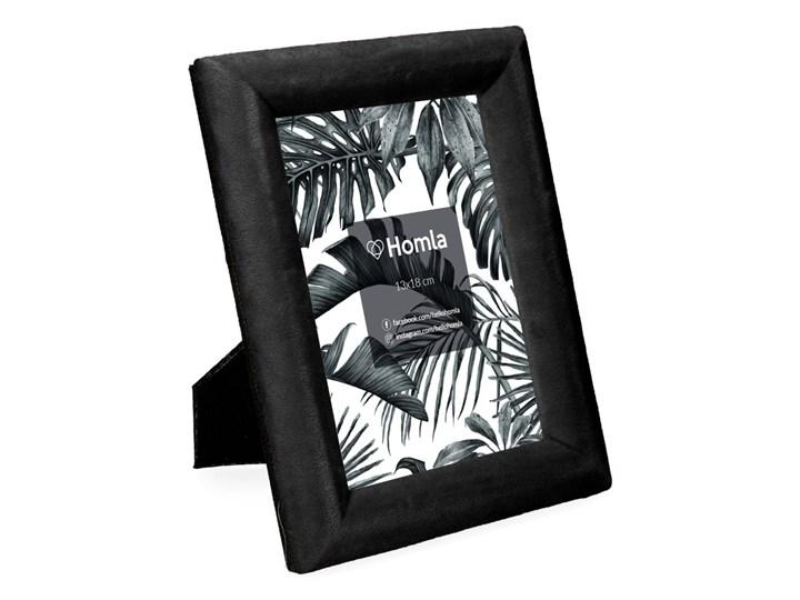 LOVA Ramka welurowa czarna 13x18 cm Drewno Kolor Czarny Kategoria Ramy i ramki na zdjęcia