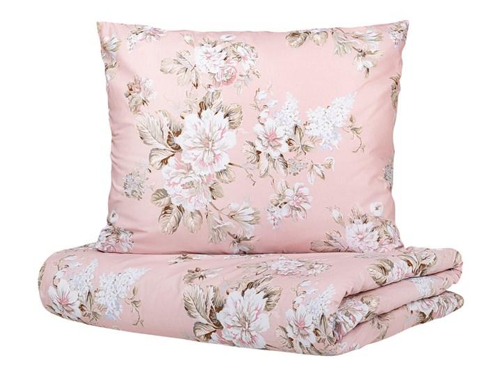 SOPHIA Komplet pościeli bawełnianej w kwiaty różowej 160x200 cm Bawełna Kolor Różowy Pomieszczenie Pościel do sypialni
