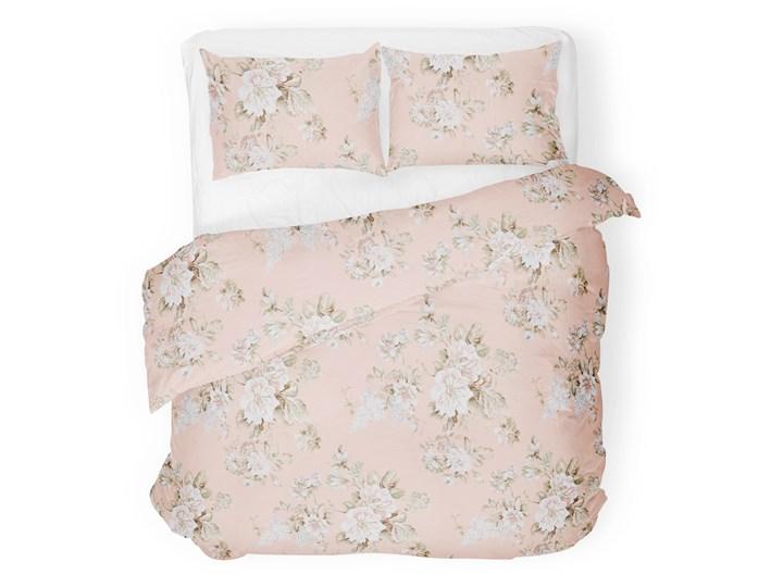 SOPHIA Komplet pościeli bawełnianej w kwiaty różowej 160x200 cm Bawełna Pomieszczenie Pościel do sypialni