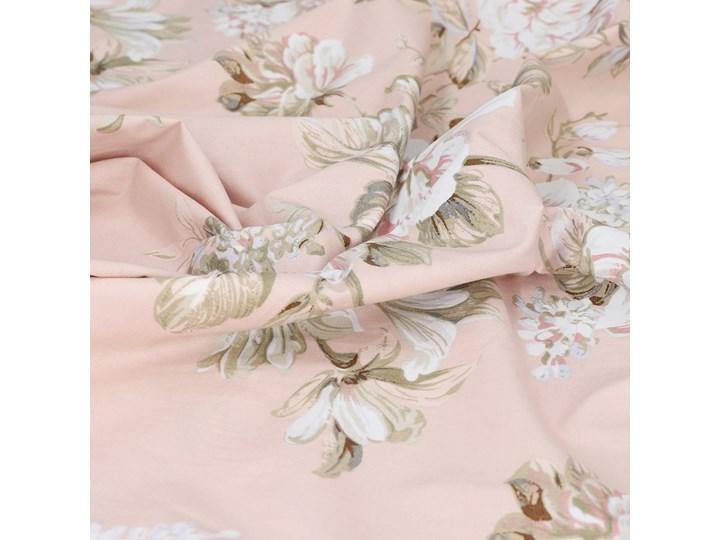 SOPHIA Komplet pościeli bawełnianej w kwiaty różowej 160x200 cm Bawełna Kolor Różowy