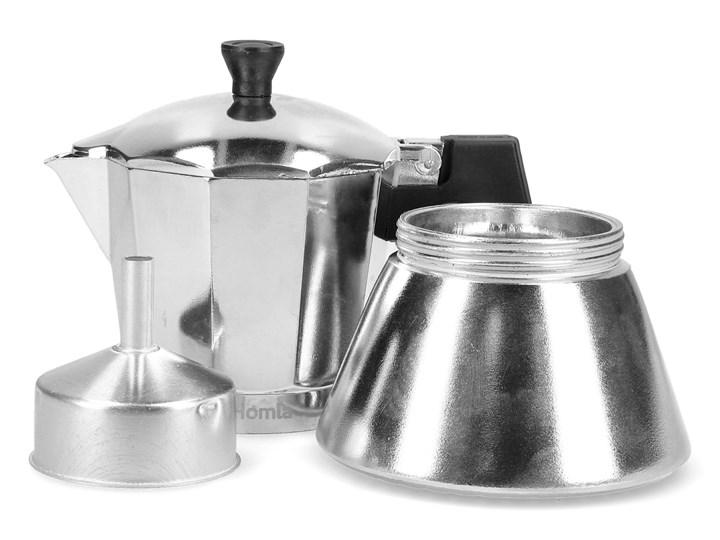 MIA MOKKA Kawiarka srebrna 6 cup Kolor Srebrny