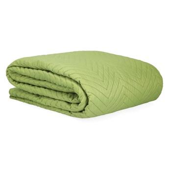 SENTIA Narzuta z przeszyciami zielona 200x220 cm