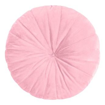 OLLIE Poduszka okrągła różowa 40 cm - Homla