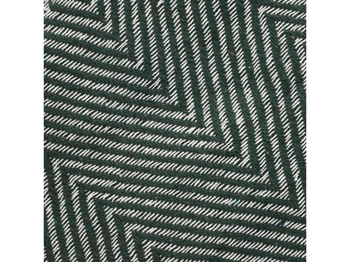 SPARRE Pled zygzak zielony 130x170 cm Bawełna Pomieszczenie Sypialnia Pomieszczenie Salon