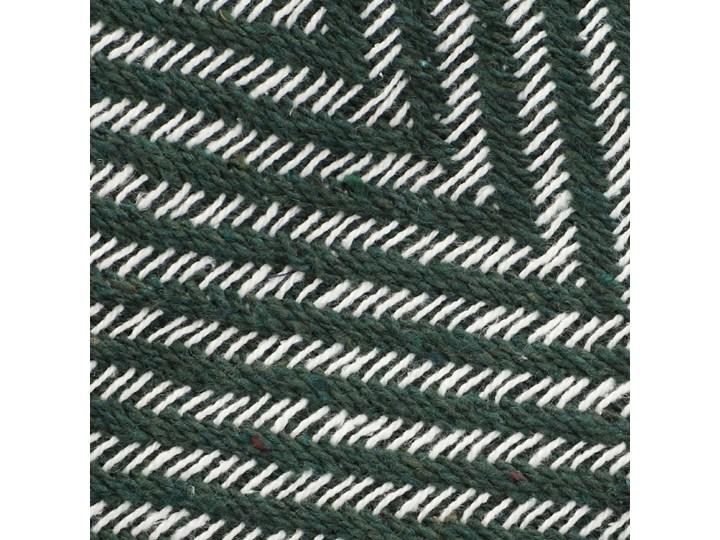 SPARRE Pled zygzak zielony 130x170 cm Bawełna Pomieszczenie Salon