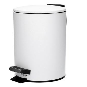 SALV Kosz na śmieci łazienkowy biały 3 l - Homla
