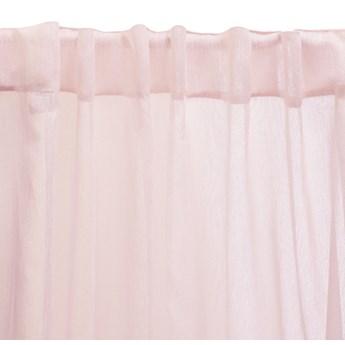 SHILA Firanka ze srebrną nitką różowa 140x250 cm - Homla