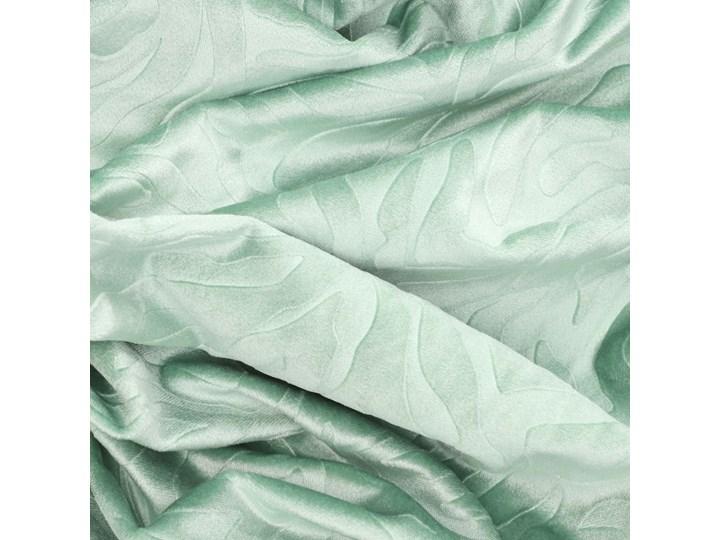 CALEEN Zasłona ze strukturą miętowa 140x250 cm Kolor Miętowy Typ Zasłony gotowe