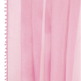 ADI Firanka z pomponikami różowa 140x250 cm