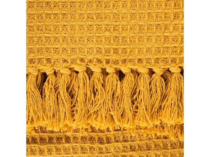 VAFFEL Pled bawełniany musztardowy 130x170 cm Bawełna Kategoria Koce i pledy