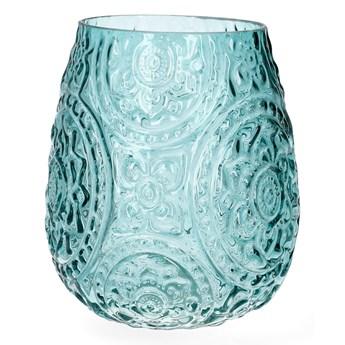 ROSAS Lampion szklany zielony 12x15 cm