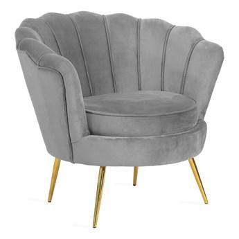 SHELLY Fotel szary 82x75x76 cm