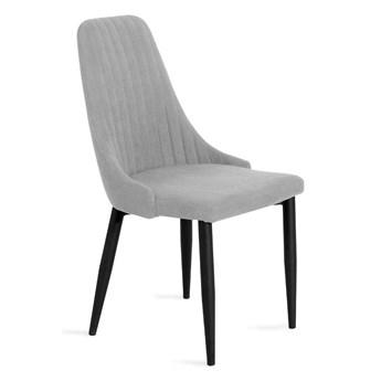 LOUIS Krzesło w tkaninie jasnoszare 44x59x88 cm