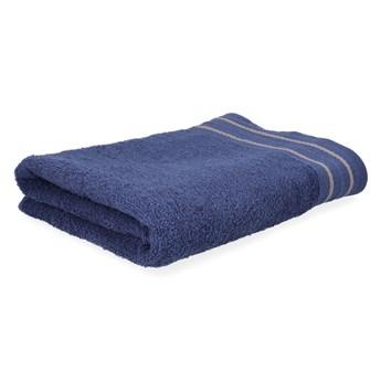 OCTOPUS Ręcznik bawełniany z lamówką granatowy 50x90 cm