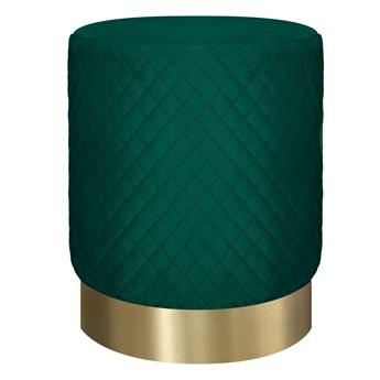 ISA Puf pikowany zielono - złoty 36x45 cm